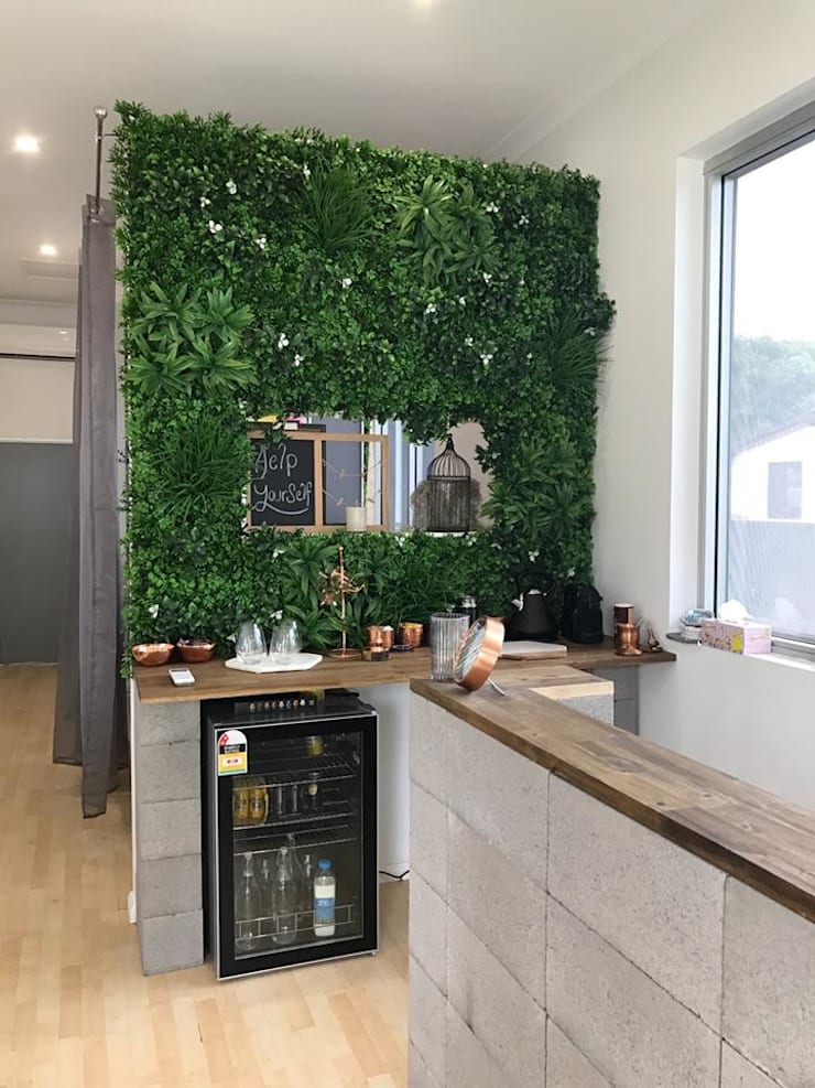 Artificial Plants Wall For Kitchen Landscape: country  by Sunwing Industrial Co., Ltd.,Country Plastic