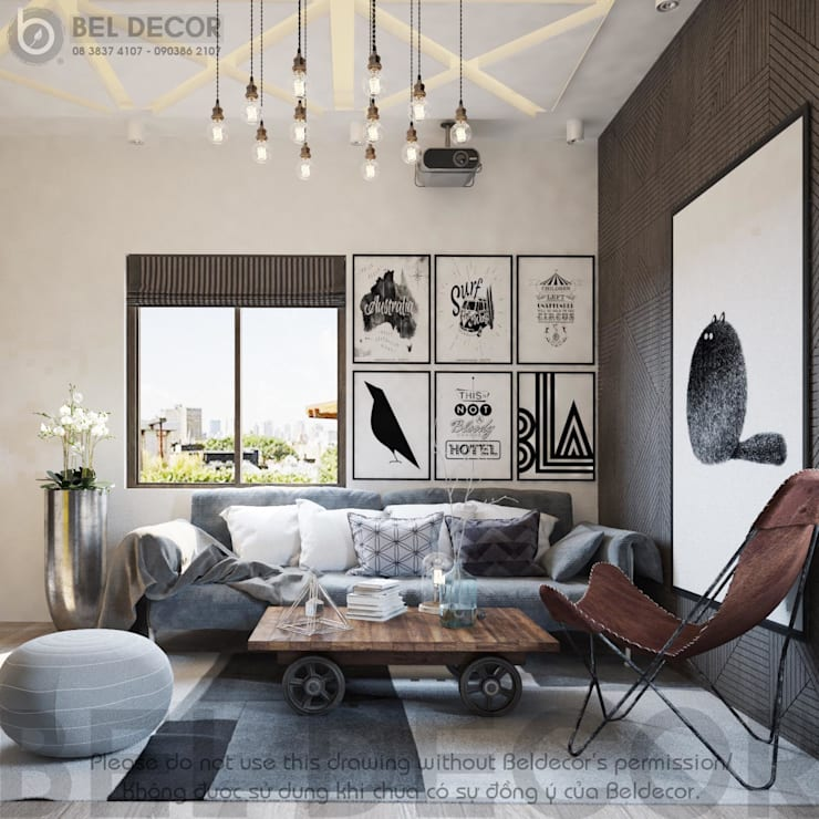 Entertainment room:   by Bel Decor