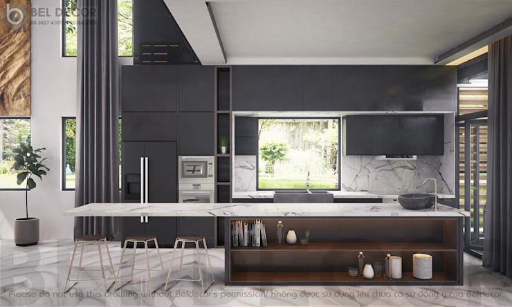 Kitchen:   by Bel Decor