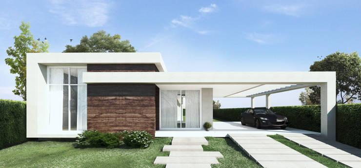 [ proyecto casa Gomez ]: Casas unifamiliares de estilo  por MONTOZA | ESTUDIO,
