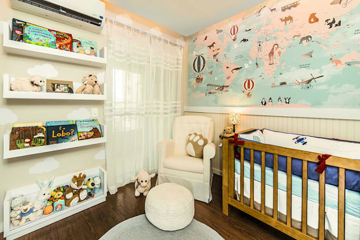 Quarto Bebê: Quartos de bebê  por Fernanda Patrão Design