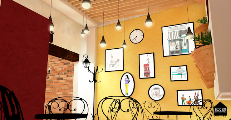 café:  de estilo  por BICHO arquitectura