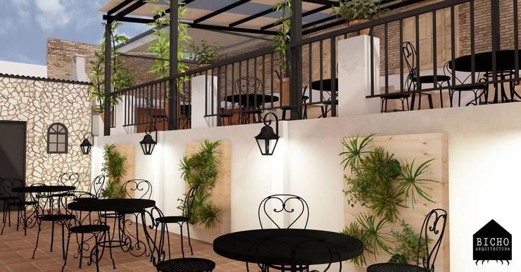 terraza restaurante :  de estilo  por BICHO arquitectura