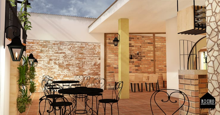 restaurante:  de estilo  por BICHO arquitectura