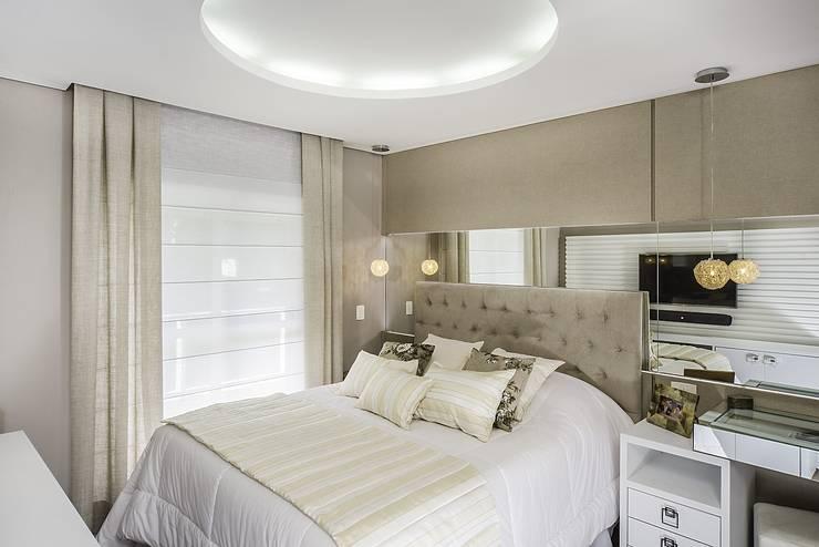 Apartamento São José dos Campos: Quartos  por Fernanda Patrão Design