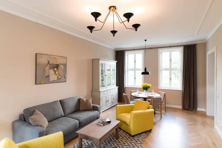 Trendfarbe aus der Natur: Beige im Wohnzimmer