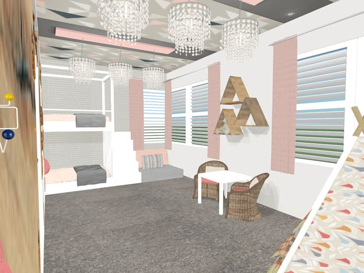 little girls room design:  Nursery/kid's room by Kirsty Badenhorst Interiors
