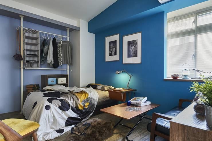 濃淡適宜 摩登輕工業魅力:  臥室 by 第宅空間設計