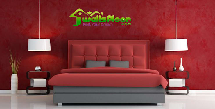 Home Interior Designers & Decorators In Ghaziabad & Greater Noida:  Bedroom by Wallsfloor.com