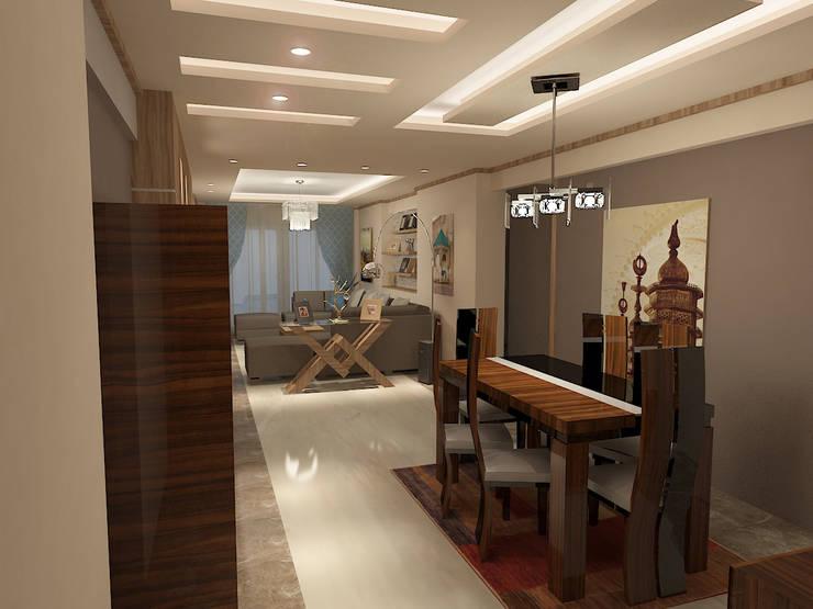 recepation area render 2 :  غرفة السفرة تنفيذ Quattro designs