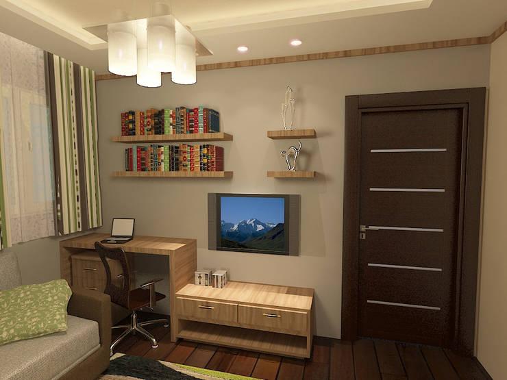 living room render 1 :  غرفة المعيشة تنفيذ Quattro designs