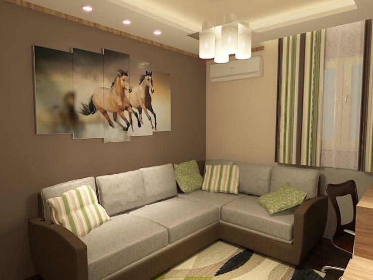 living room render 2 من Quattro designs حداثي