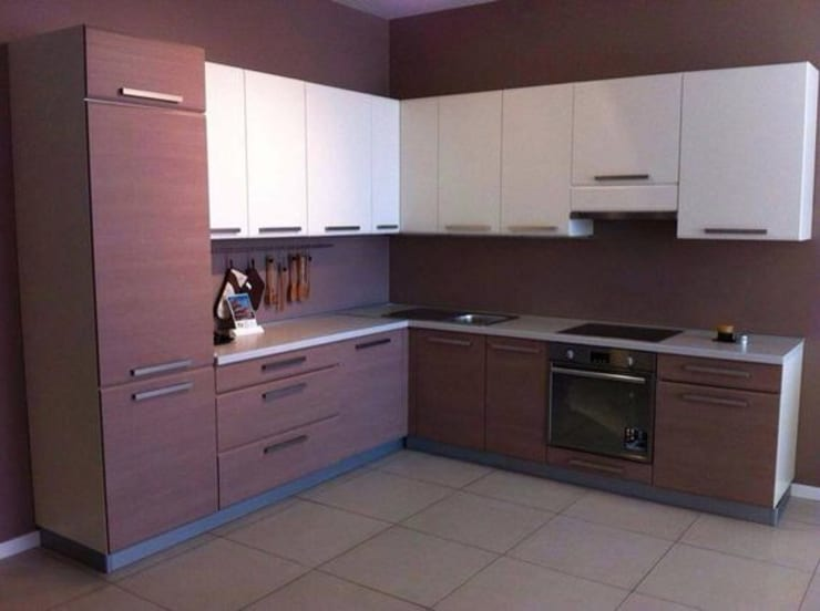 L-Shaped Modular Kitchen Designs In Ghaziabad, Noida & Greater Noida: modern  by Wallsfloor.com,Modern Wood Wood effect