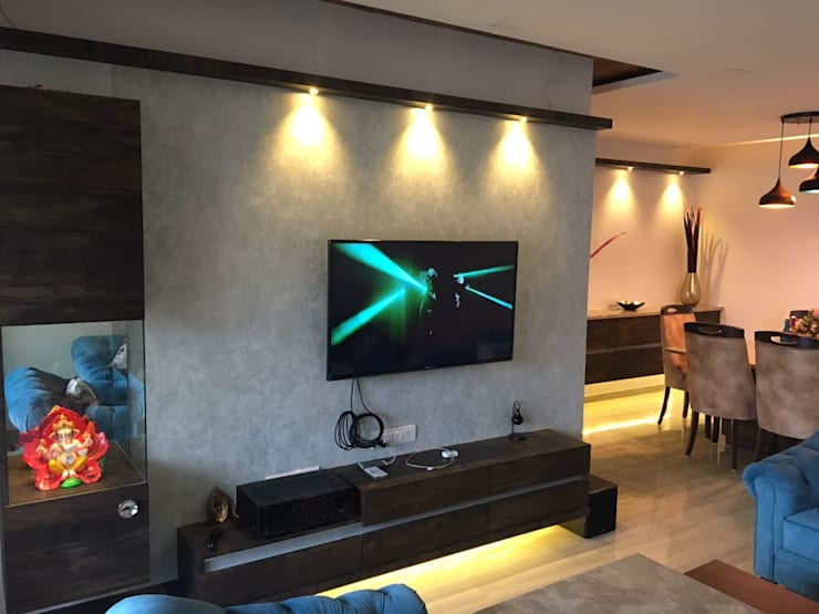 TV unit: modern Living room by Vinayak Interior | Interior Designing and Decorator Companies