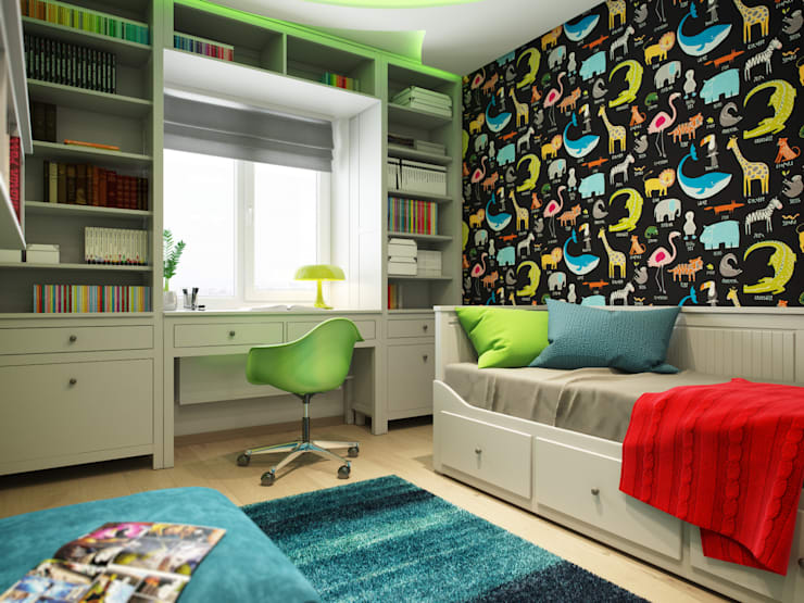 Apartment in Tomsk:  Nursery/kid's room by EVGENY BELYAEV DESIGN