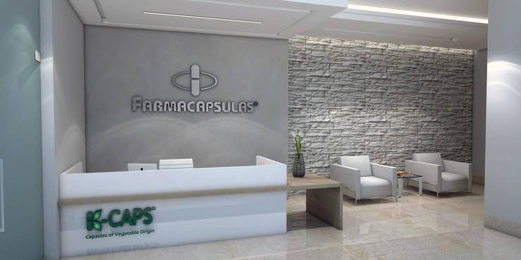 Diseño recepcion - Oficina Farmaceutica:  de estilo  por Savignano Design