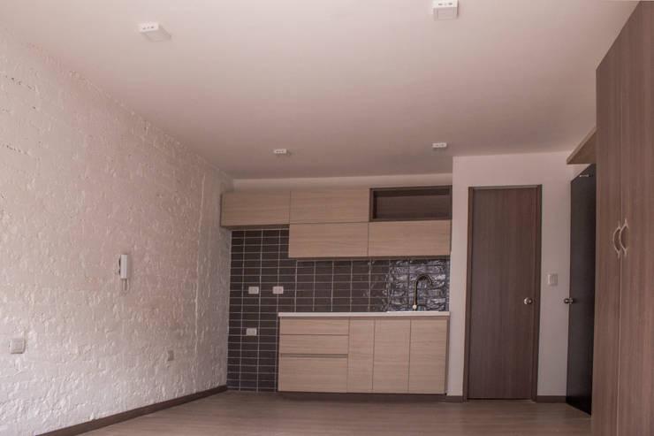 Apartamento 4: Cocinas de estilo  por santiago dussan architecture & Interior design, Ecléctico