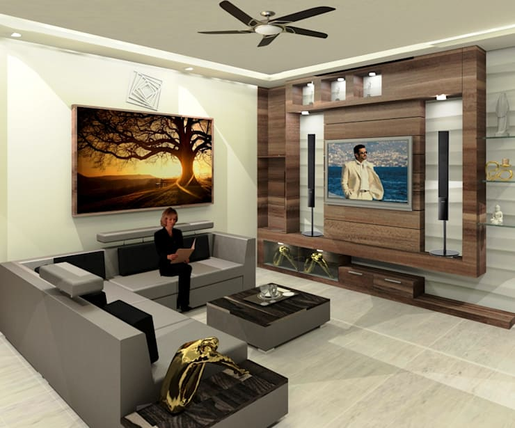 Residential 2: modern Living room by Falcon Resources