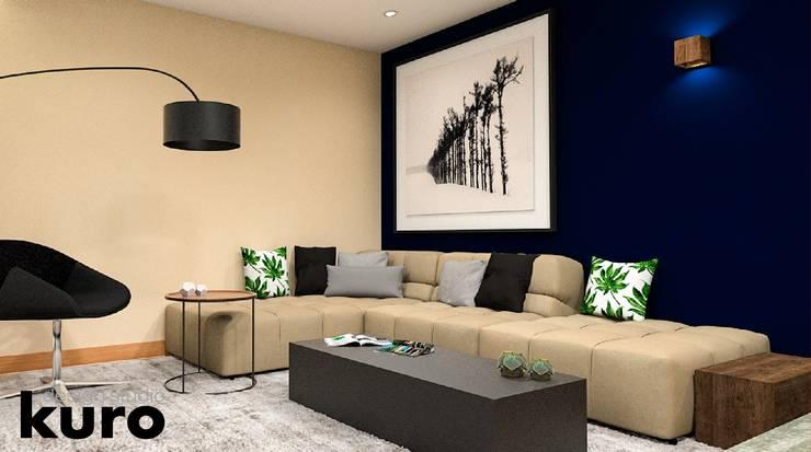 Salas de entretenimiento de estilo moderno por Kuro Design Studio
