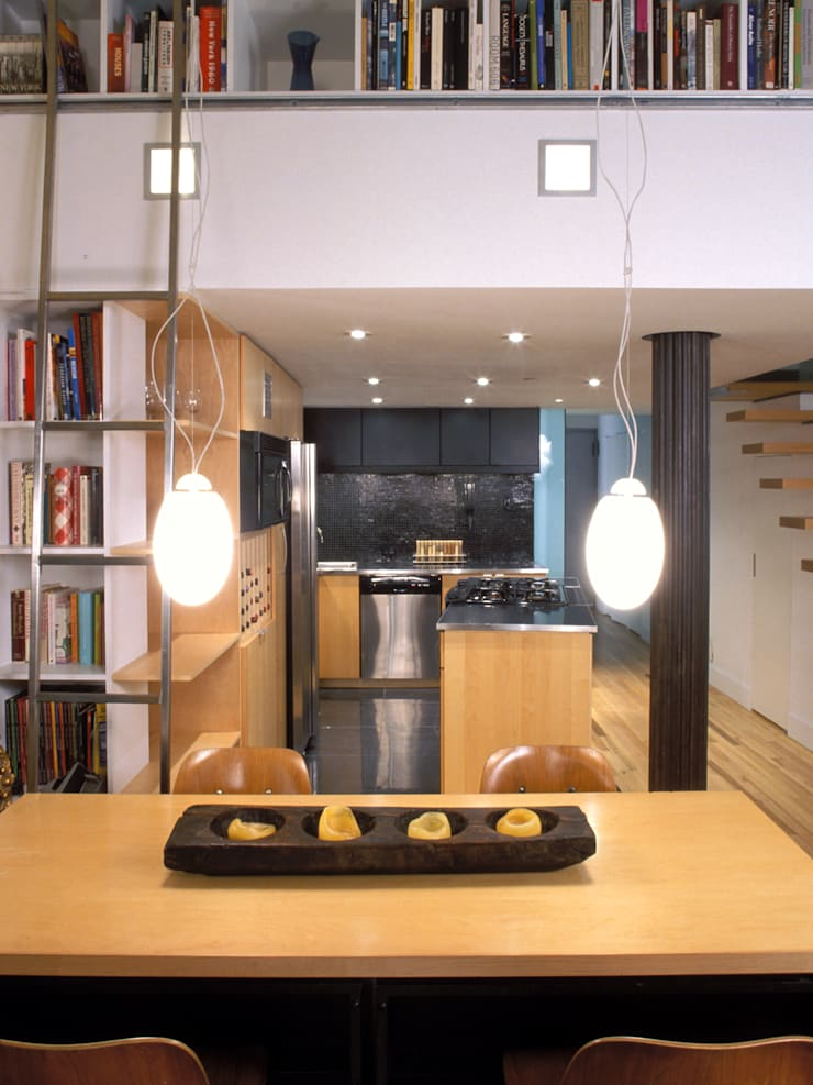greenwich village duplex:  Dining room by Kimberly Peck Architect