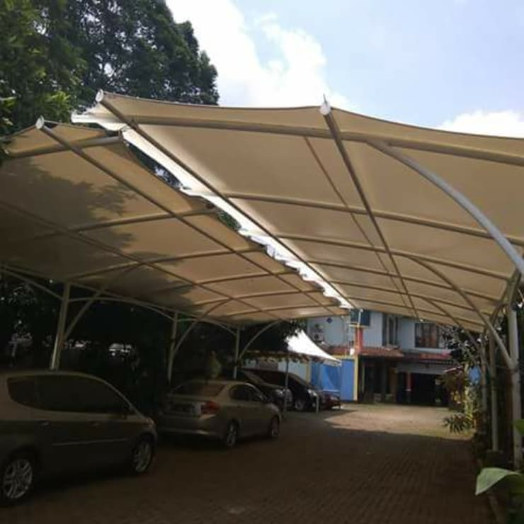 Tenda Membran Halaman Parkir:  oleh bintang canopy, Minimalis