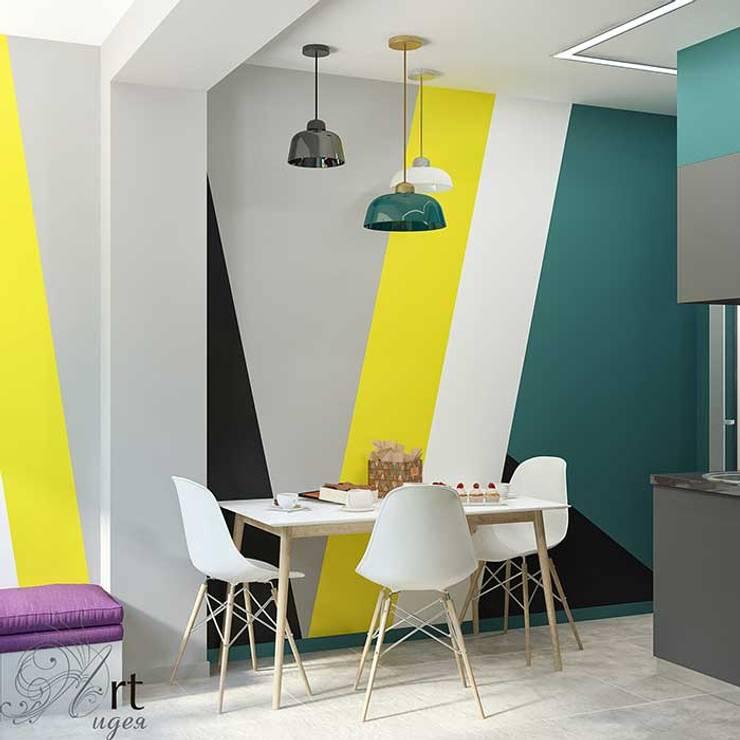Интерьер кухни однокомнатной квартиры: Кухни в . Автор – Арт-Идея, Минимализм Бетон