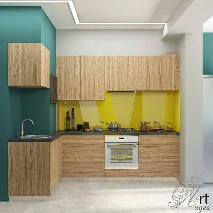 небольшая кухня в квартире: Кухни в . Автор – Арт-Идея, Минимализм Дерево Эффект древесины