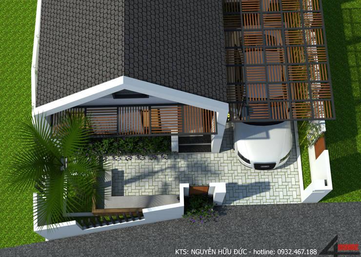 Nhà vườn cấp 4 hiện đại:  Nhà gia đình by Công ty TNHH CND Associates - Kiến trúc CND