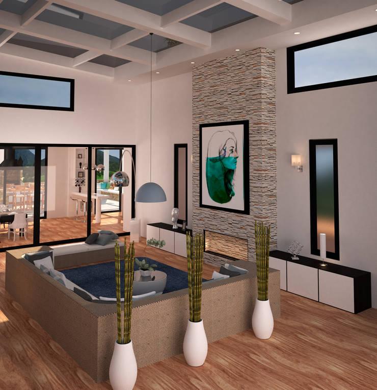 espacios visualizacion 3D: Salas de estilo  por okull creativo