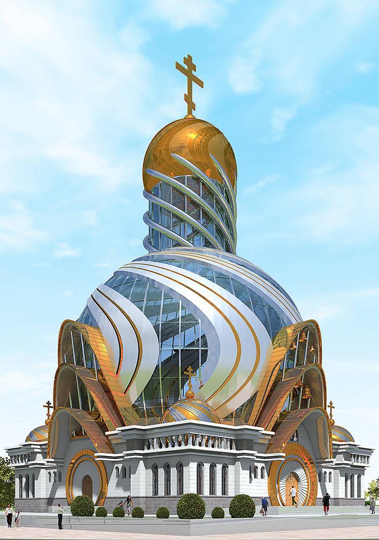Современное архитектурное решение православного храма:  в . Автор – Проектная группа «Портал»,