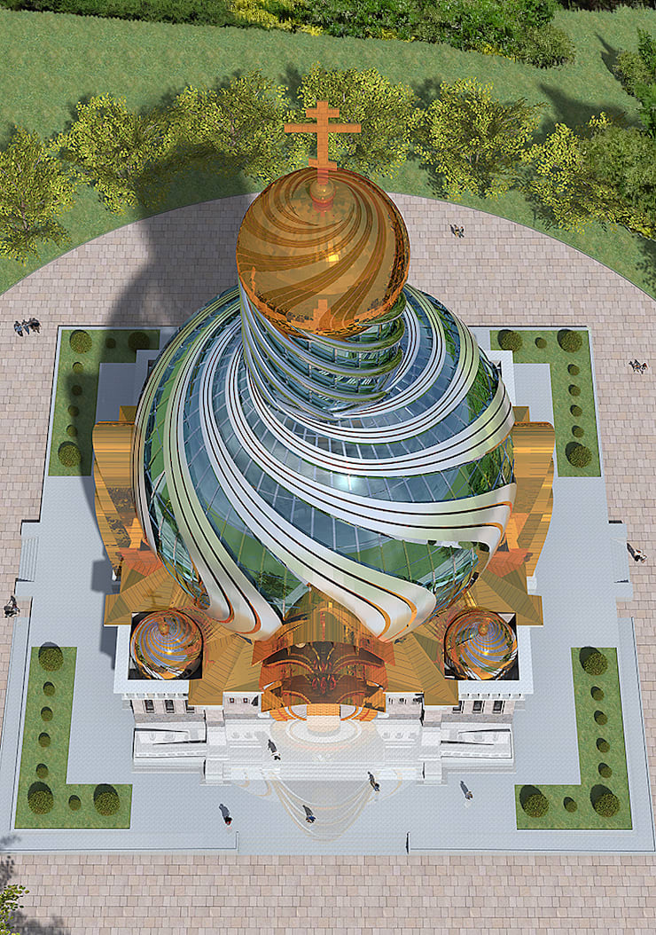 Современное архитектурное решение православного храма:  в . Автор – Проектная группа «Портал»