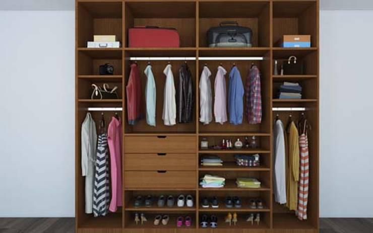 Residential Interior :  Dressing room by Manoj Interior Decorator