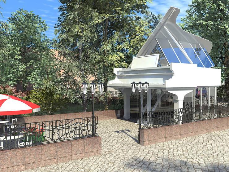 Проект летнего кафе с реконструкцией сквера:  в . Автор – Проектная группа «Портал»