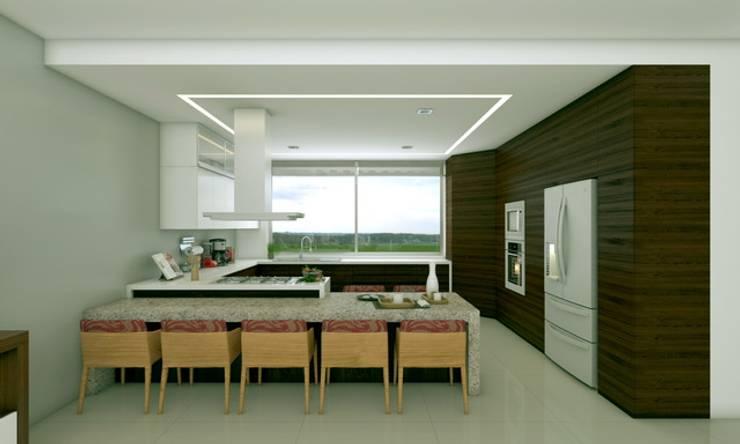 Residencia 1: Comedores de estilo moderno por SYD CONSTRUCTORES