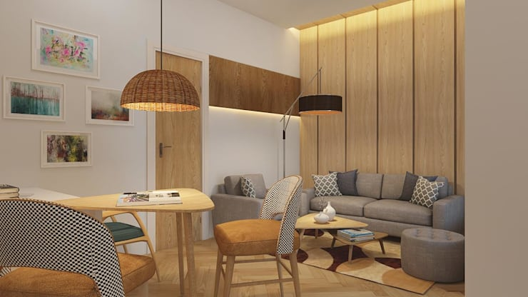 Living room by SYNTHESIS ARCHITECTURE