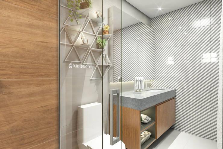 Baños de estilo  por Bruna Rodrigues Designer de Interiores