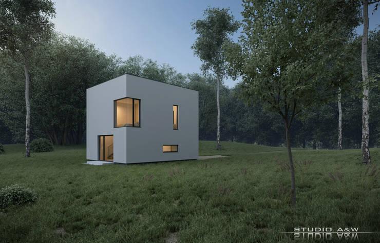 Maisons de style  par  Architekt Łukasz Bulga Studio A&W Kraków | Projekty domów nowoczesnych