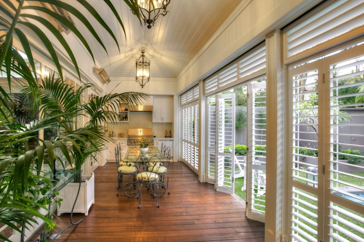 Aluminium Shutters—Outdoor Rooms:  Patios & Decks by TWO Australia
