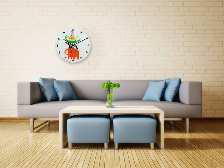 Nextime Jungle Wall Clock:  Living room by Just For Clocks