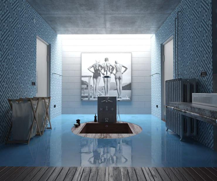 Paredes y pisos de estilo  por Jacopo Montanari 'Atelier Intarsia'