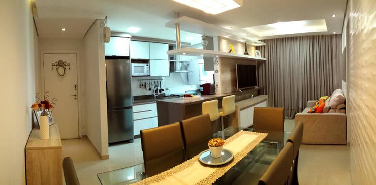 20 projetos de decora o em apartamentos pequenos com 45m2 for Diseno de apartamentos de 45m2