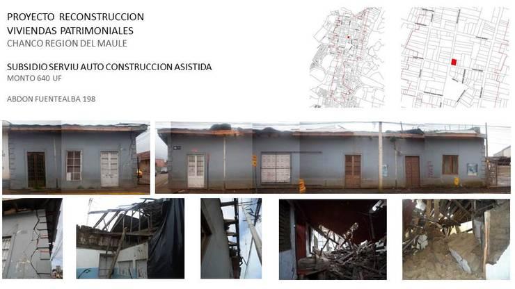 Reconstrucción Vivienda Patrimonial Chanco, Región del Maule, Chile:  de estilo  por Rukantue