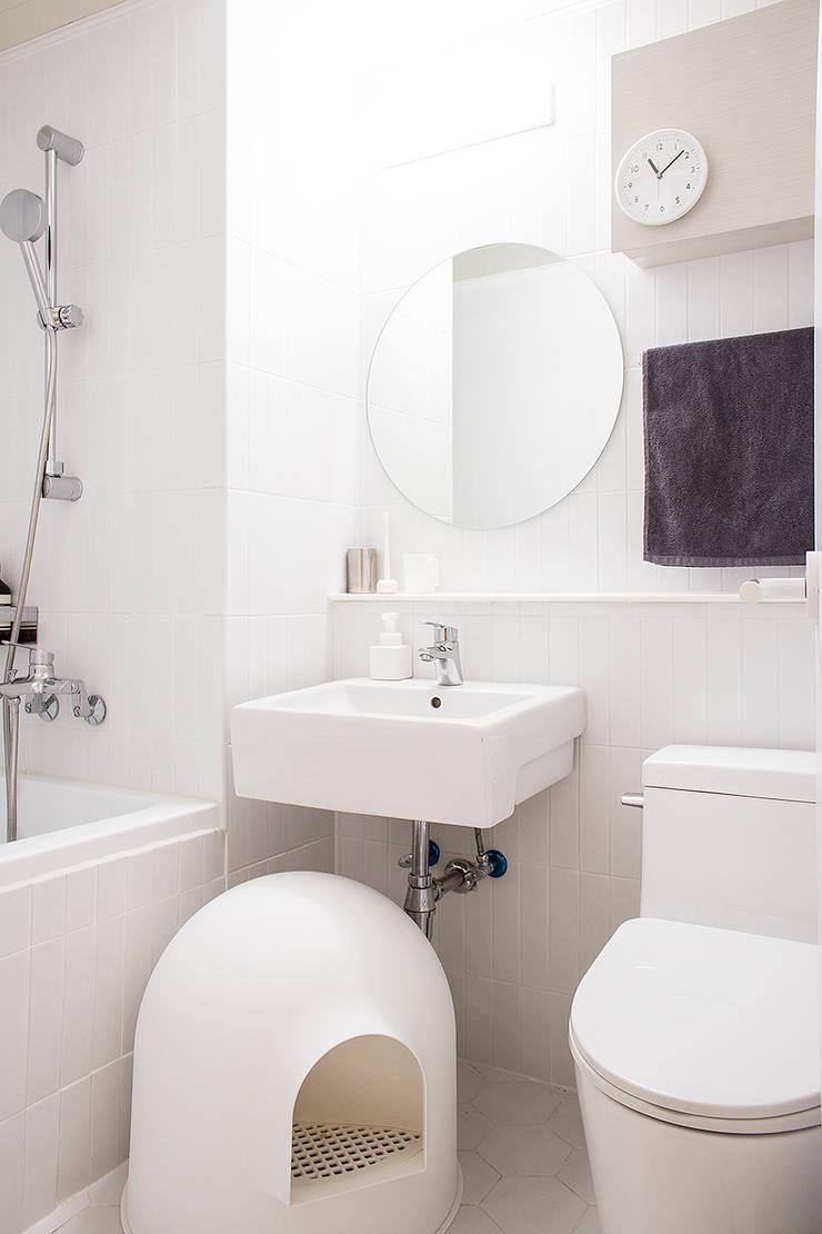 오피스텔 인테리어: 플레이디자인의  욕실,모던