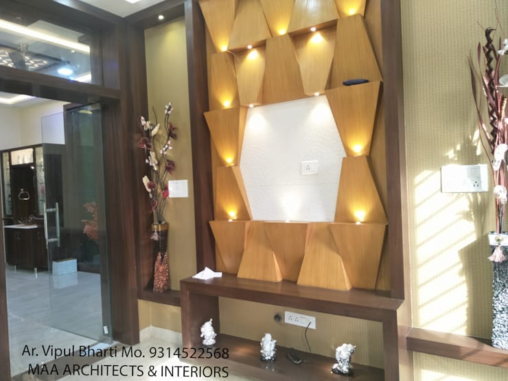 Sunil ji Kalyani : modern Living room by MAA ARCHITECTS & INTERIOR DESIGNERS