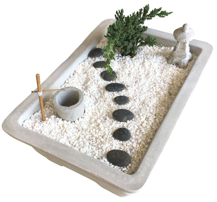 Mini Japanese garden:  室內景觀 by Chinpu technology Inc.