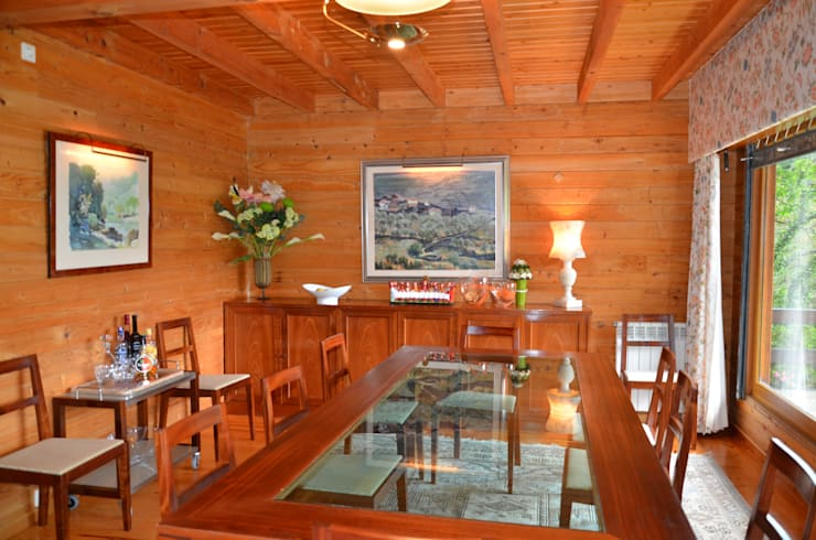 RUSTICASA | Casa da Caniçada | Terras de Bouro: Salas de jantar  por Rusticasa