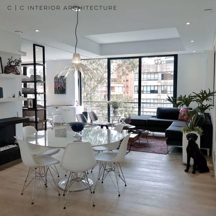 APARTAMENTO ROSALES | Residencial: Comedores de estilo  por C | C INTERIOR ARCHITECTURE