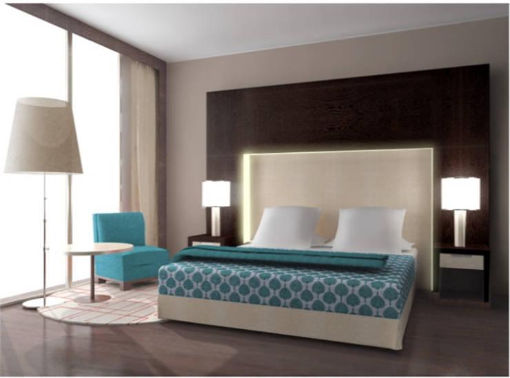 Habitación Minimalista: Habitaciones de estilo  por Arq. Nury Tafur Garzon