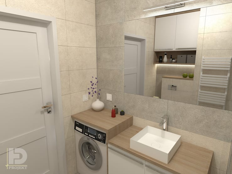 modern Bathroom by HD PROJEKT