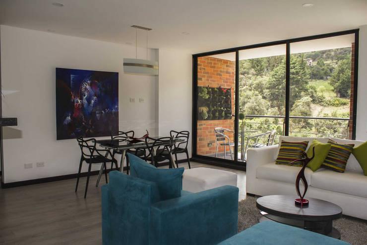 Vivienda: Salas de estilo  por Arq. Nury Tafur Garzon